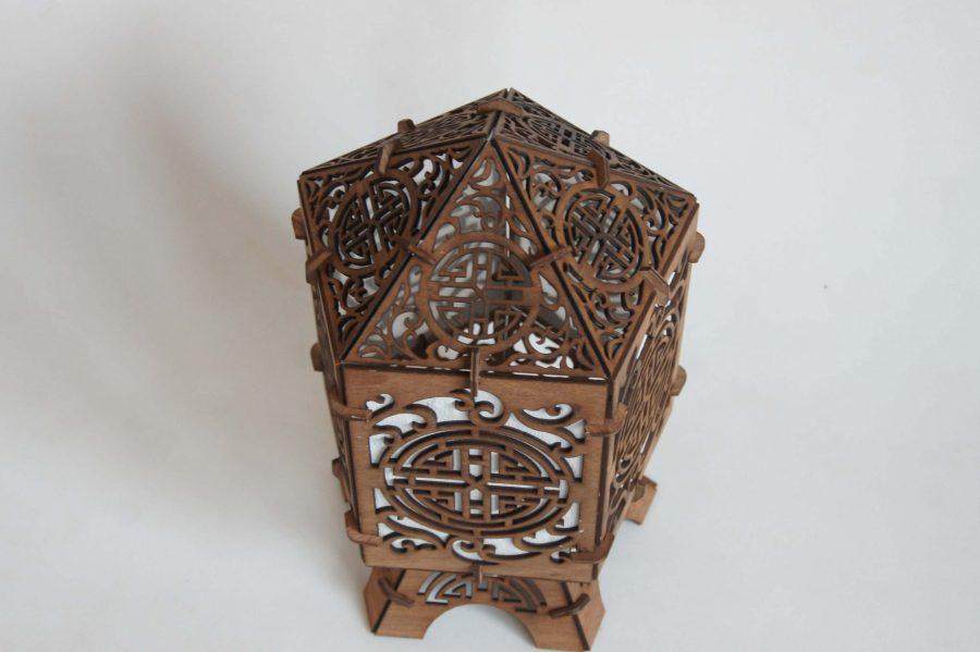 lampe chinoise bois