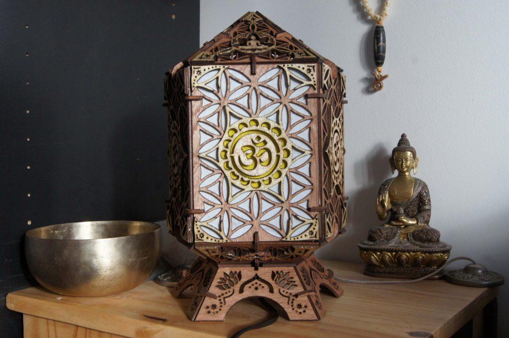 lampe bois om