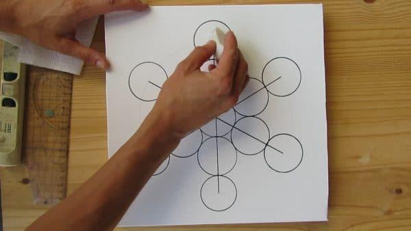 metatron cube dessin