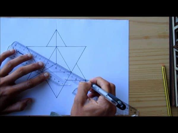 dessiner merkaba