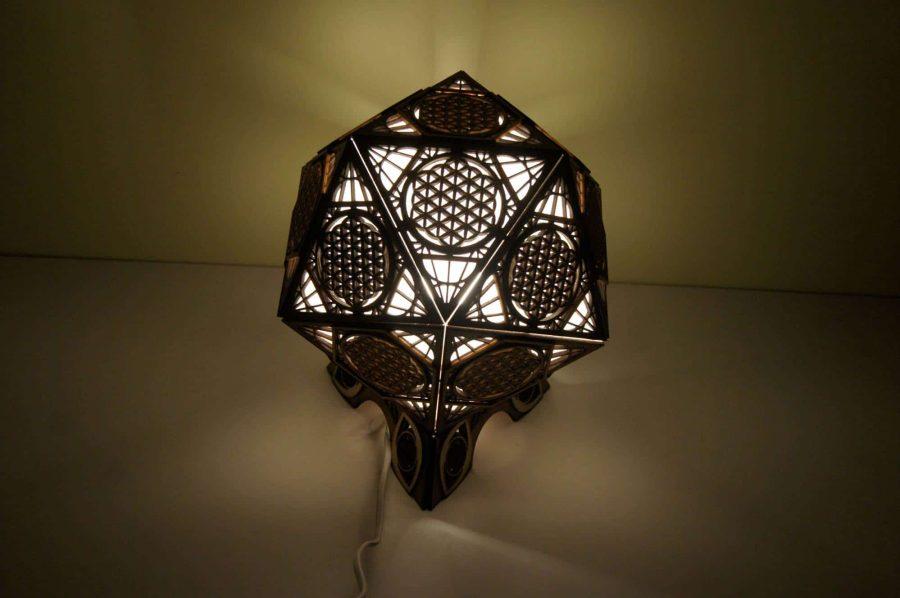 lampe icosahedre