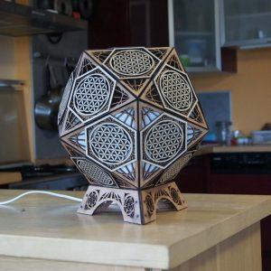 Lampe géométrique